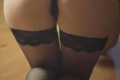 Упругая задница в эротической белье